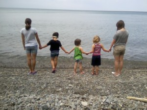 my weekend tribe at the beach earlier that day