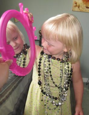 """""""All mommy's necklaces!"""" July 2011"""