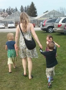 my sister, my nephew, & my girls. So happy to be together.