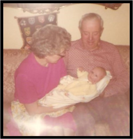 me as an infant with my grandparents