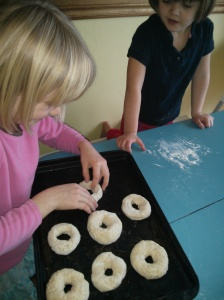 making bagels for Christmas morning