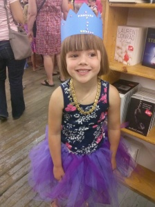 Athena at a princess party at the book store