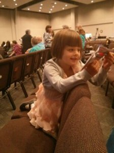 Athena at church